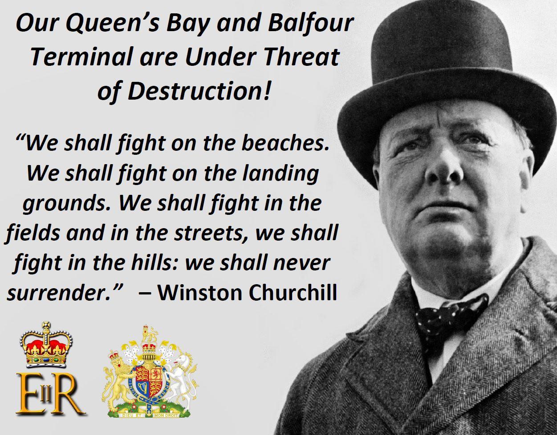 Churchill on queens bay